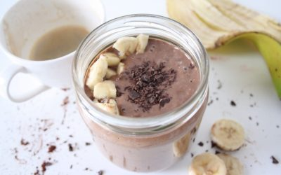 Choco Banana Peanut Butter Smoothie