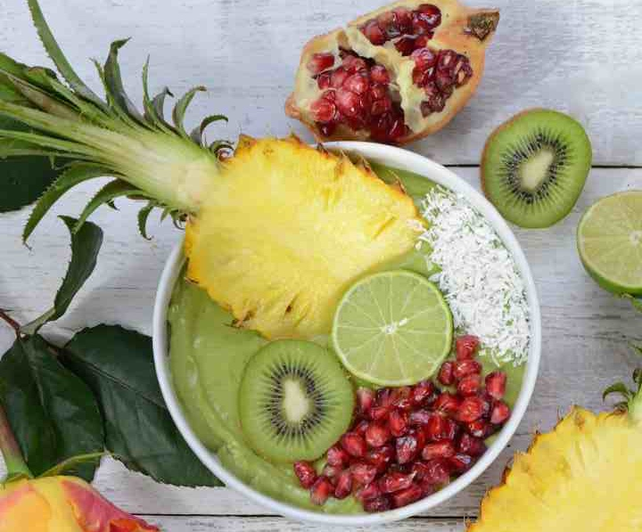 Creamy Green Tropical Bowl