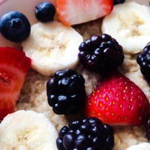 Strawberries Banana Oatmeal Breakfast Smoothie