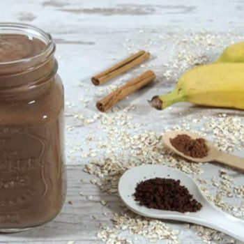 Coffee Banana Cacao Smoothie to take to Work