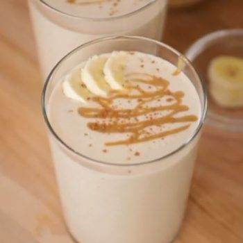 Creamy Peanut Butter Banana Smoothie to take to Work