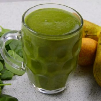 Pear and Spinach Smoothie to take to Work