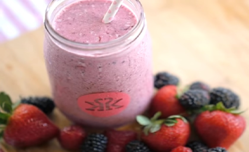 Looking for a fruity and refreshing smoothing? The check out this deliciously berry blast smoothie and bring it with you to enjoy at work or whatever yo go!