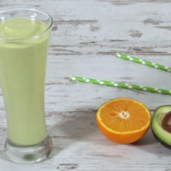 Clementine Avocado Smoothie to take to Work